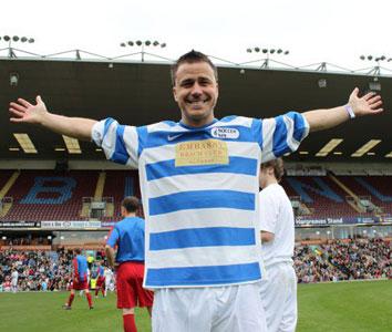 Craig at charity football event