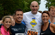 Craig with friends at race for charity
