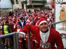 Craig doing charity run in santa costume