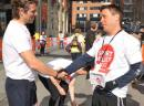 Craig with John Bishop at sports relief